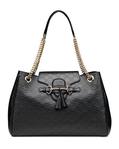 94e20d9d4ae Gucci Emily Large Guccissima Leather Shoulder Bag