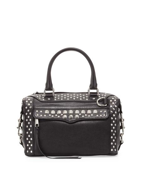 Mab Mini Studded Satchel Bag Black