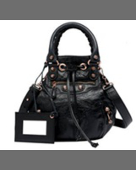 b04babbaf2 Lyst Balenciaga Giant Mini Pompon Leather Shoulder Bag In Black ...