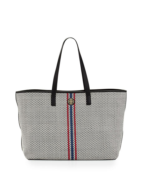 Tory Burch Jane Woven Leather Tote Bag acb8058fb618c