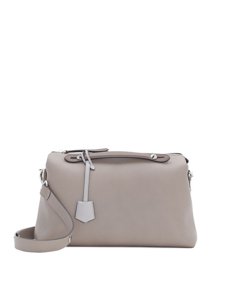 By The Way Leather Satchel Bag Turtle Dove Gray