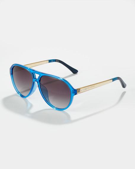 e27161a97788 TOMS Marco Enamel Aviator Sunglasses, Bright Blue