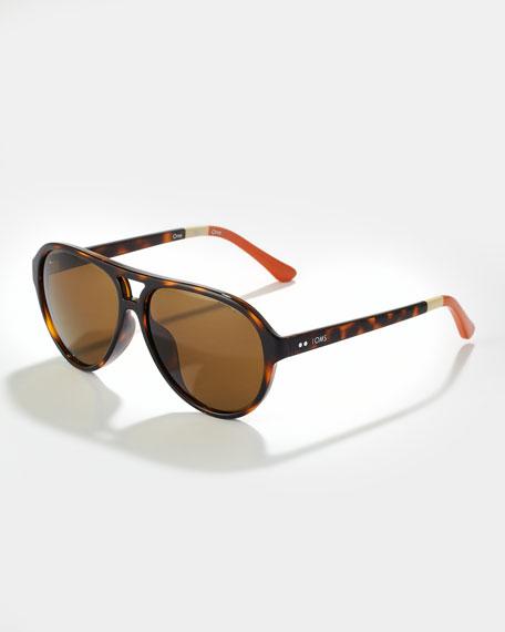 1083232f4529 TOMS Eyewear Marco Enamel Sunglasses, Tortoise