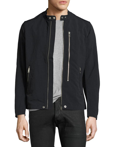 Nylon Biker Jacket, Black