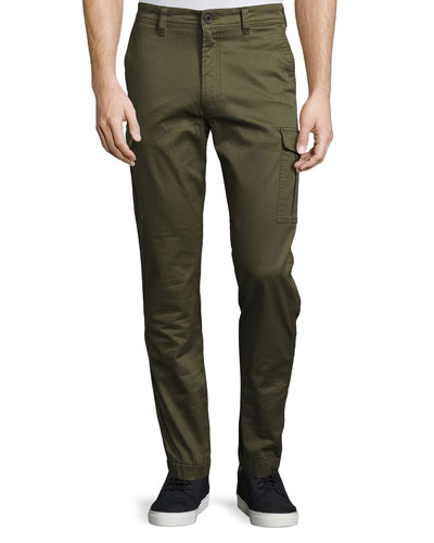 Twill Cargo Pants, Army Green