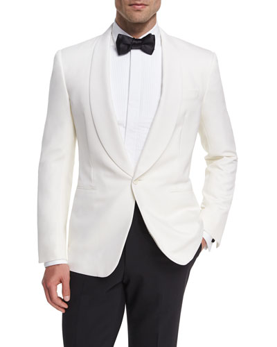 Anthony Wool Dinner Jacket, White