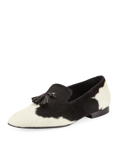 Calf Hair Tassel-Front Loafer