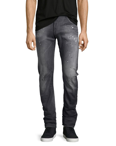 Arc 3D Slim-Straight Jeans, Gray