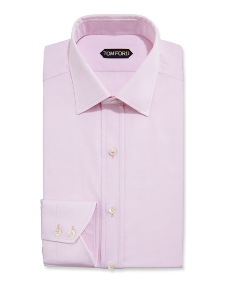 Tom ford slim fit small classic collar dress shirt pink for Small collar dress shirt