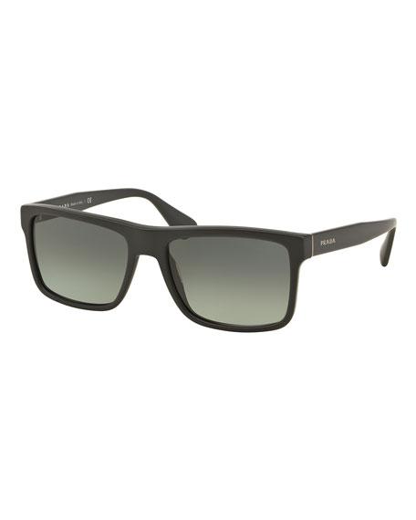 dd3ae1614de94 ... get prada rectangular acetate sunglasses gray d0b0c da46a