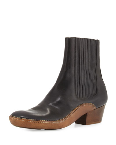 Runway Cowboy Chelsea Boot, Black