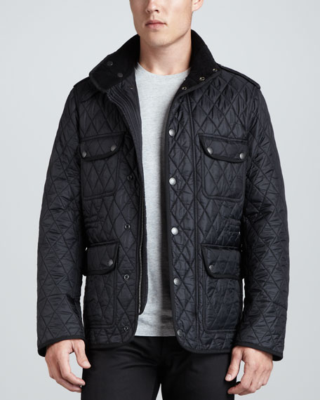 Burberry Brit Quilted Field Jacket Black