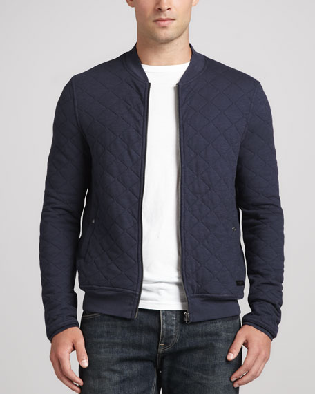 4c8a1bcf9a9 Burberry Brit Quilted Jersey Bomber Jacket