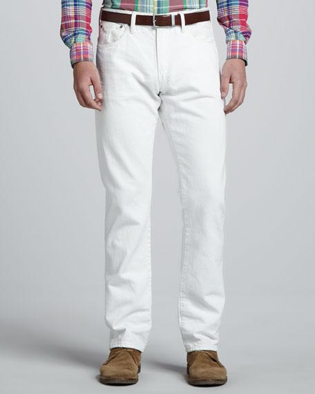2c3d9f17 Varick Slim-Fit Jeans White