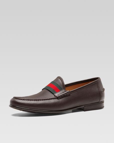 f8d0de405cb Gucci Frederik Leather Web Loafer