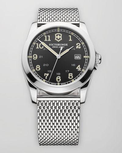 Infantry Mesh Strap Watch, Gray