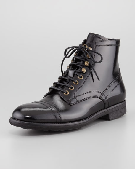 latest collections cheap price buy cheap 2014 Dolce & Gabbana Patent Leather Cap-Toe Booties sale discount cheap 2014 new cheap discounts RKPx9So
