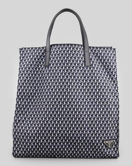 cd738bd66 Prada Geometric-Print Tote Bag, Black/White