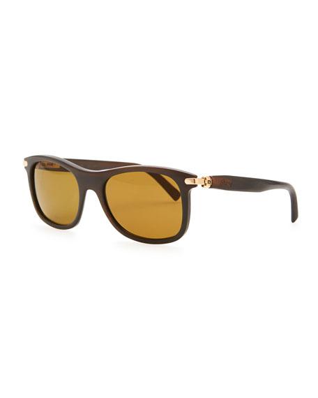 f9f43451e3 Brioni Round Horn Polarized Sunglasses