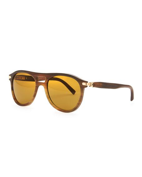 781c2ddf77 Brioni Horn Polarized Aviator Sunglasses