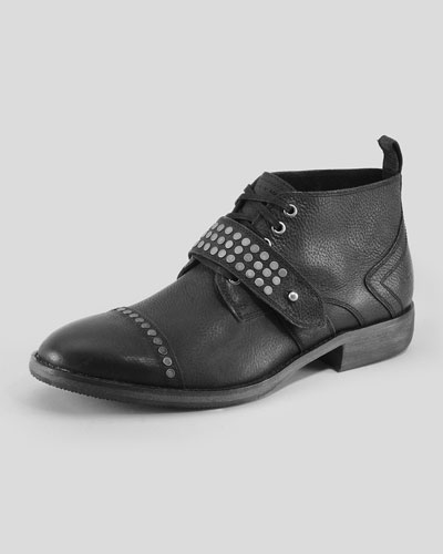 Willets Studded Boot, Black