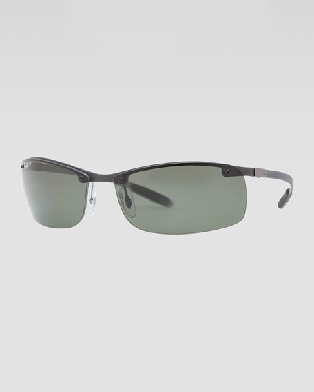 6266dfb1c Ray-Ban Rectangular Tech Sunglasses, Light Carbon/Green