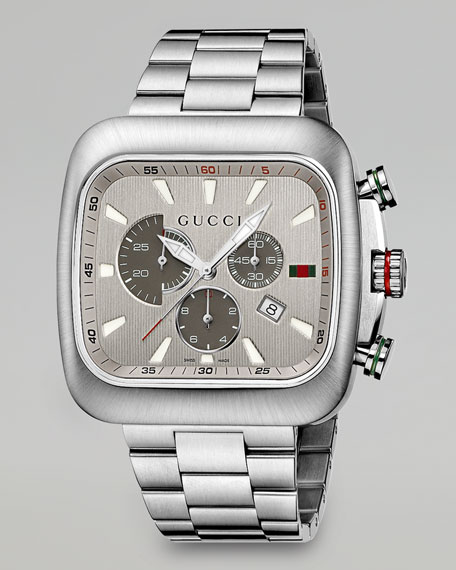 57c1f1cf020 Gucci Coupe XL Square Chronograph Watch