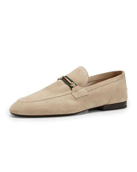dea6c7f9088 Gucci Suede Thin-Horsebit Loafer