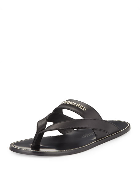 Thong Sandal Cross Black Men's Strap UzVMqpSG
