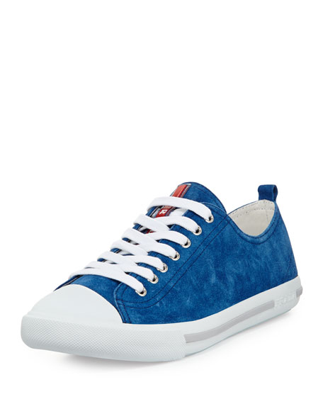 toe cap sneakers - Blue Prada