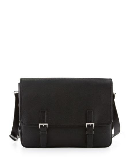2e084c092799 Prada Men s Saffiano Leather Messenger Bag