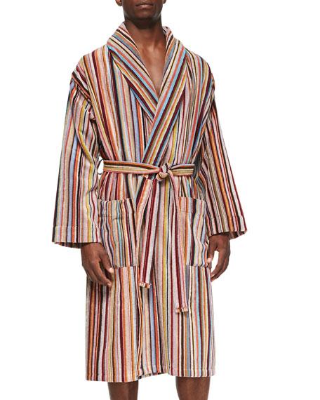 e00b34e7fc6c Paul Smith Men s Multi-Striped Terry-Cloth Robe