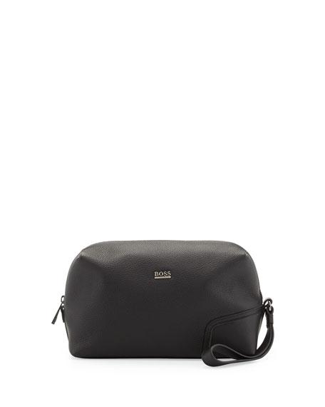 fa67d7783 Boss Hugo Boss Leather Travel Kit, Black