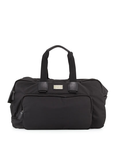 Men's Nylon Duffel Bag, Black