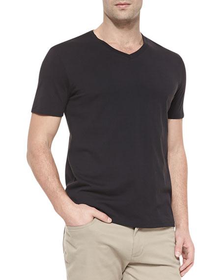 fb50930ff45 Vince V-Neck Jersey T-Shirt, Black