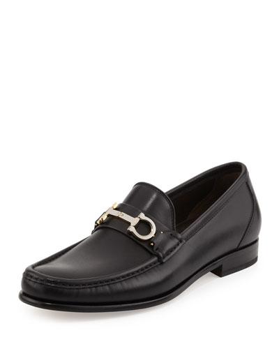 Twirl Rotating Bit Leather Loafer, Black
