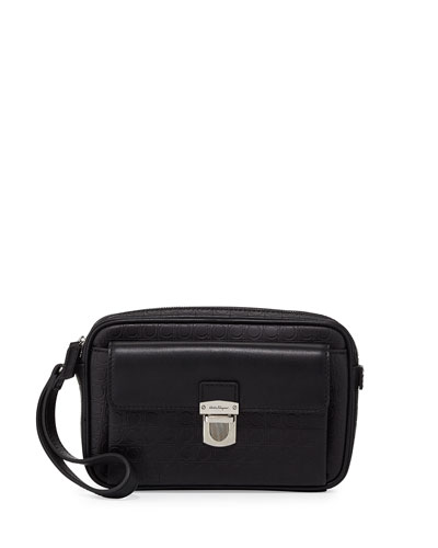 Gamma Soft Leather Toiletry Bag, Back