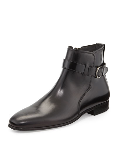 Patriot Boot with Buckle, Black