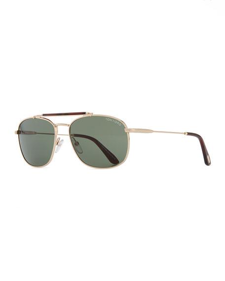 78963fe2b2e7c Tom Ford Marlon Metal Navigator Sunglasses