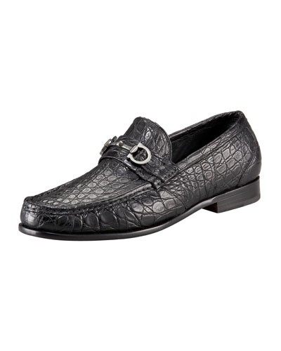 Giostra 3 Crocodile Bit Loafer, Black