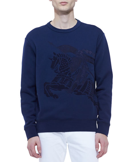 fd77f75d5b98a Burberry Brit Equestrian Knight Crewneck Sweatshirt