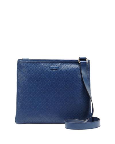 Diamante Lux Leather Messenger Bag