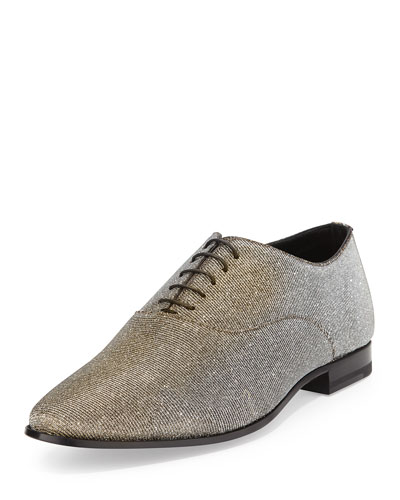 Lulu Richelieu Oxford Shoe, Metallic