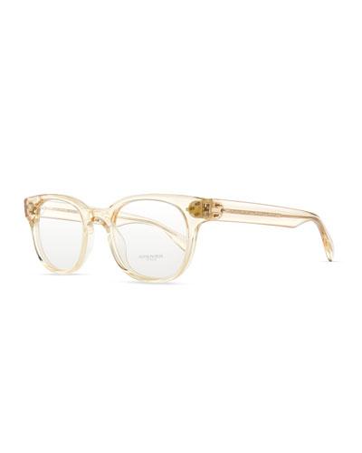 Afton Clear Men's Fashion Glasses, Buff