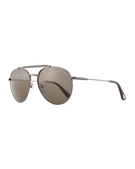 a740cf8abd78b TOM FORD Colin Round Aviator Sunglasses