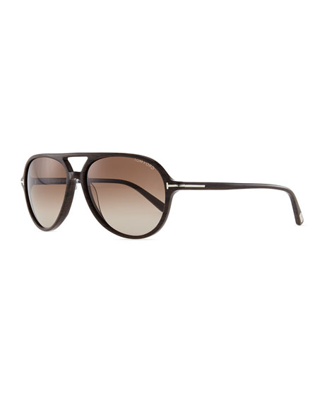433c9918fe3 TOM FORD Jared Acetate Aviator Sunglasses