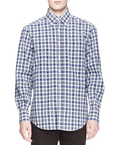 Madras Check Poplin Shirt