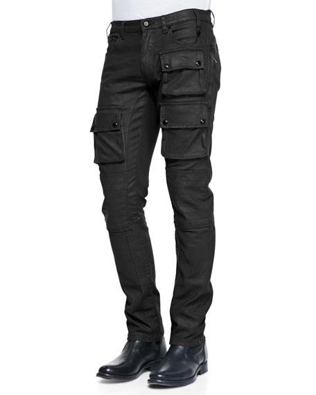 29f0466d4ae4 Belstaff Devonport Resin Coated Denim Jeans