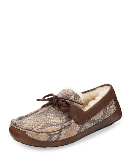 721ba687028 Byron Snake-Print Leather Slipper