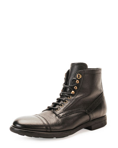Milano Lace-Up Leather Boot